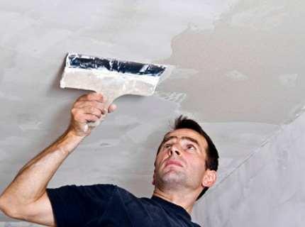 Шпаклевка потолка своими руками – в чем специфика работ?