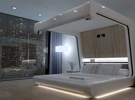 Спальня в стиле хай-тек – меняем градус по правилам
