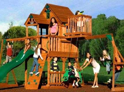 Детские площадки из дерева – пилим, строгаем, сколачиваем