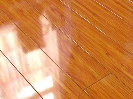 Лакированный ламинат как вариант напольного покрытия