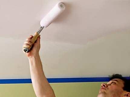 Как покрасить потолок водоэмульсионной краской – узнаем процесс со всех сторон