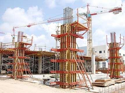 Опалубка колонн – выбираем практичный вариант конструкции