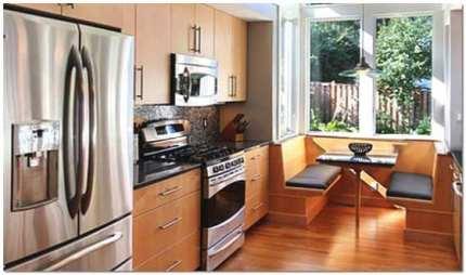 Совмещение кухни с лоджией. Присоединение балкона